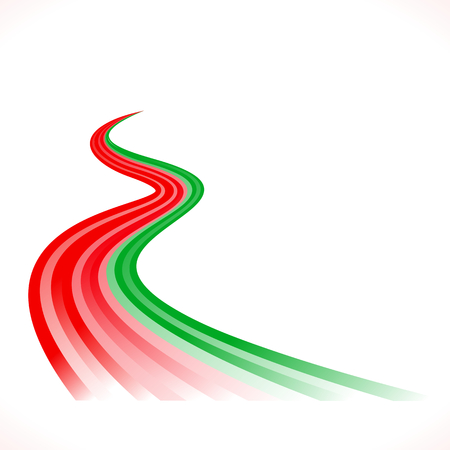 Abstract waving Portuguese, Bangladeshi and Moroccan flag Vector