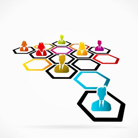 réseautage: Le réseautage d'affaires comme une méthode de générer de nouvelles affaires Illustration