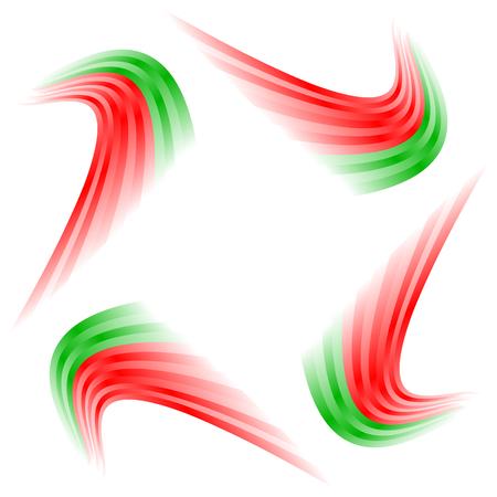 bandera de portugal: Patrón ondulado abstracta