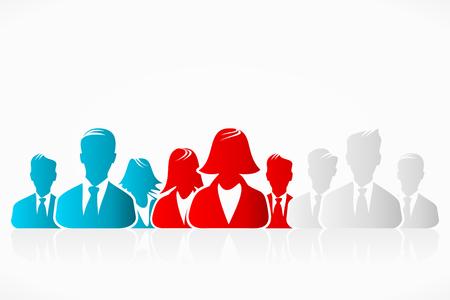 slovakian: Russian, Czech and Slovakian flag business people silhouettes