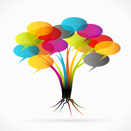 Communication tree abstract illustration Vector
