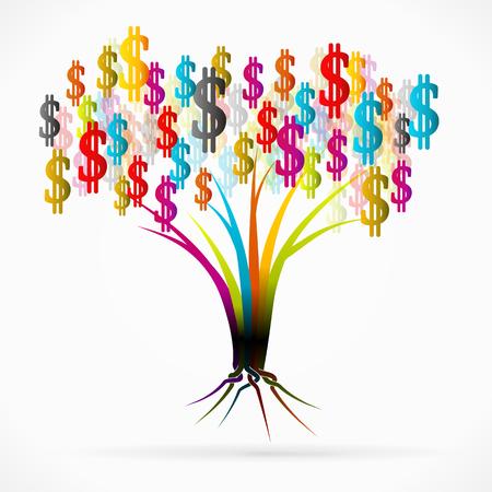 Money tree abstract illustration