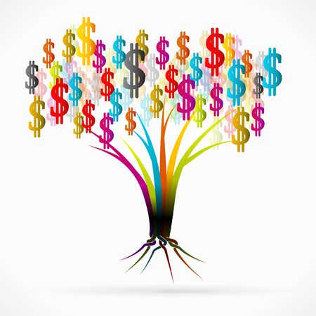 g�n�alogie: Money tree illustration abstraite Illustration