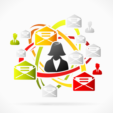 Email abstract motion concept