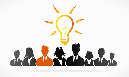 interpretation: Group idea business people abstract illustration