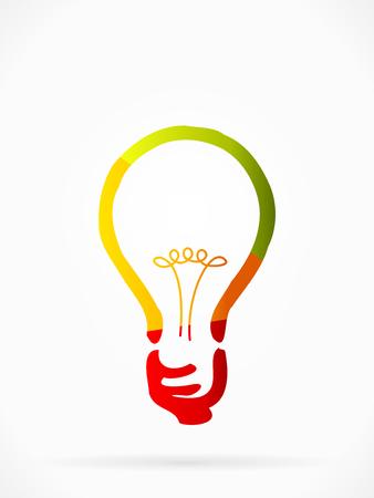decode: Multicolor idea concept abstract illustration Illustration
