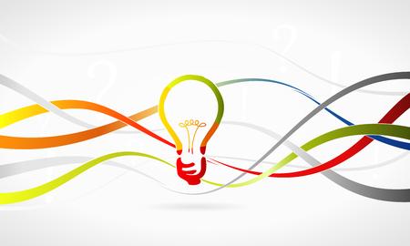 decode: Multicolor idea banner concept abstract vector illustration Illustration