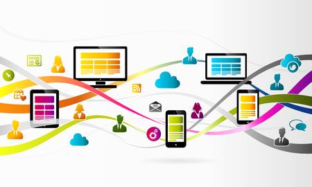 Abstract internet technology concept vector background illustration Illustration