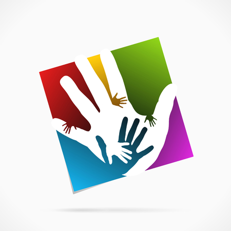 Abstract palm hand symbol vector illustration