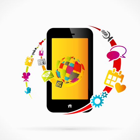 Internet mobile phone applications Stock Vector - 23924365