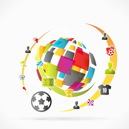 t short: Abstract soccer concept vector illustration Illustration