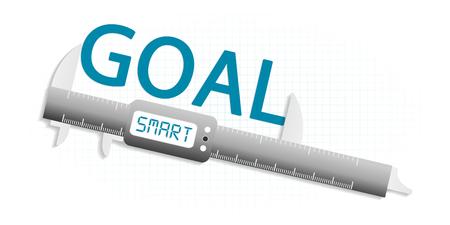 smart goals: Smart goal precision measuring tool concept