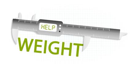 precision: Lose weight precision measuring tool concept