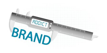 precision: Brand addict precision measuring tool concept