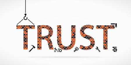 Bauen Sie Vertrauen auf Baustelle