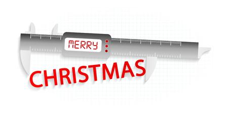 precision: Merry Christmas precision measuring tool concept
