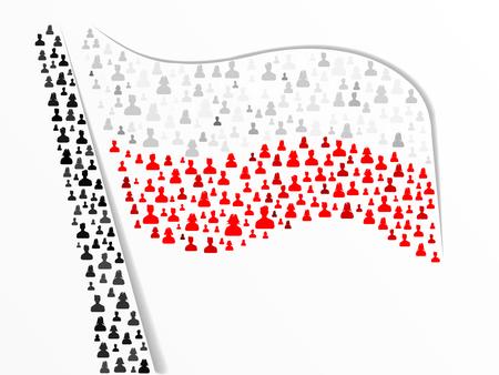 polish flag: Polish flag made out of large group of people