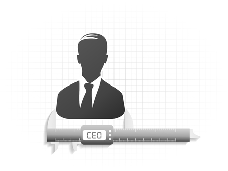 Conceptual illustration about high precision CEO evaluation  Vector