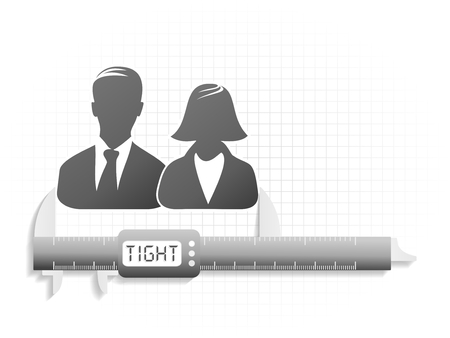 Conceptual illustration about high precision couple relations  Vector