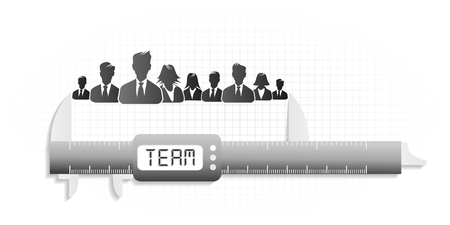 Conceptual illustration about high precision team metrics Vector