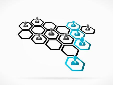 Matrix management of cross functional individuals reporting line