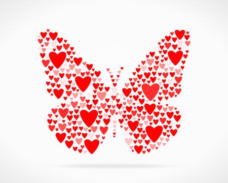 declaration: Valentine day love declaration butterfly
