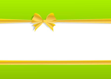 wishing card: Golden ribbon wishing card illustration