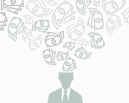 mucho dinero: Dinero abstracto del vector ilustración de fondo Vectores