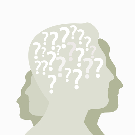 confound: Questions abstract vector background illustration