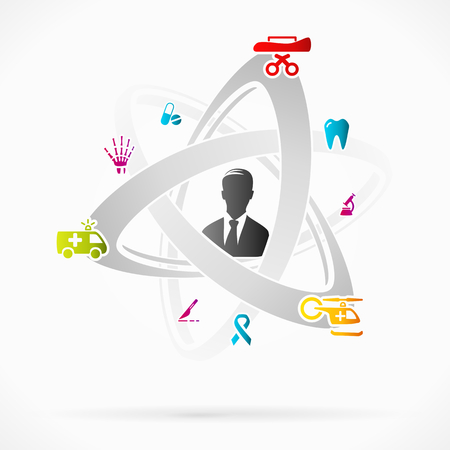 abstract tooth: Abstract motion concept about medical business industry Illustration