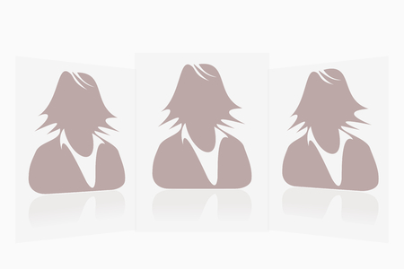 Default perspective avatar profile picture collection woman Vector