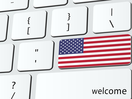 Welcome to America computer icon keyboard Vector
