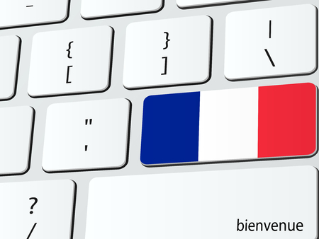 francaise: Welcome to France computer icon keyboard