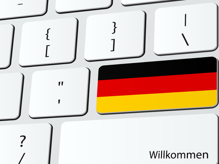 hospitality industry: Welcome to Germany computer icon keyboard