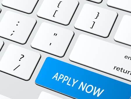 apply now: Apply now written on a computer keyboard