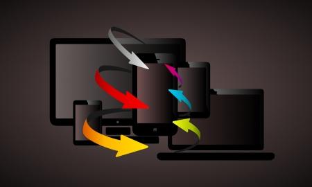 Arrows liquid web design abstract vector illustration Stock Vector - 25145946