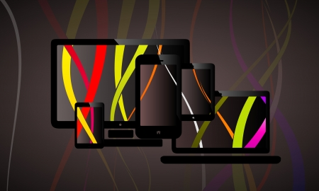 Vertical liquid web design abstract vector illustration Stock Vector - 25145949