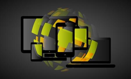 proportional: Sphere liquid web design abstract vector illustration Illustration