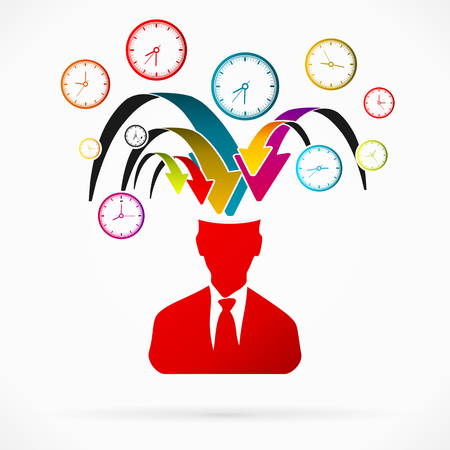 overburden: Abstract avatar vector illustration about time stress