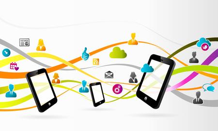 social media concept: Social media concept abstract vector illustration