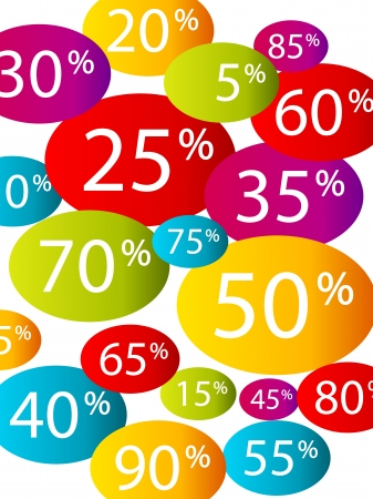 priced: Multicolor discount background Illustration