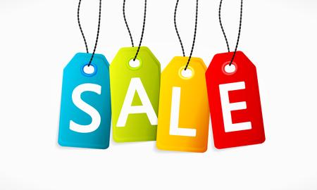 price cut: Multicolor vendita Vettoriali