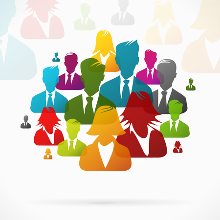 Group of people working together Vector