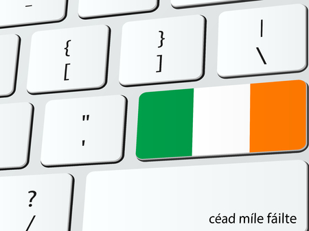 republic of ireland: Welcome to Ireland computer icon keyboard