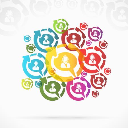 kunden service: Abstrakt Kundenservice Sprechblase