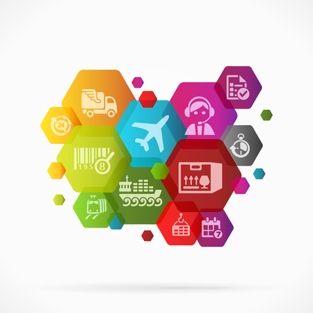 Abstract logistic background vector illustration