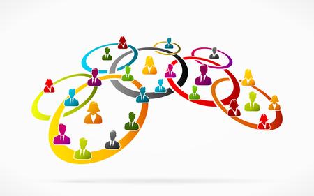Business network illustration