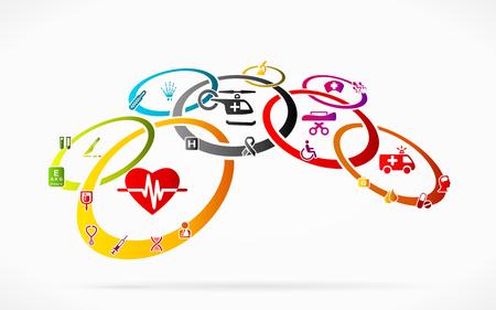 ems: Medical network Illustration