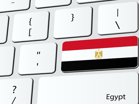 bandera de egipto: Bandera de Egipto icono de la computadora del teclado