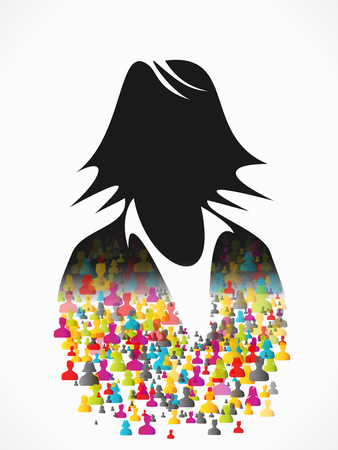 Woman profile illustration  Vector